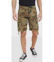 jack & jones jjialfa jjcargo shorts akm 905 camo shorts grön