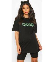 'mombie' halloween-positie-t-shirt, zwart