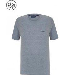camiseta plus size basic cinza mescla - kanui