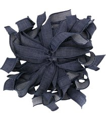 piccola ludo denim floral brooch - blue