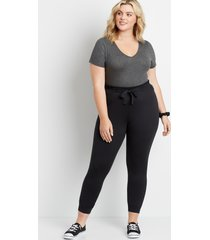 maurices plus size womens black ultra soft tie waist jogger pants