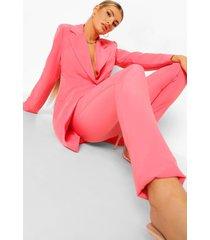 strakke getailleerde broek, candy pink