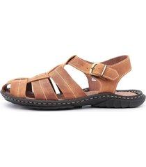 sandália centuria tamanho especial mostarda - kanui