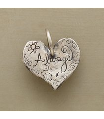 sterling silver always heart charm