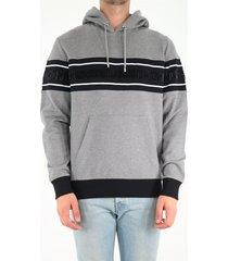 balmain gray hooded sweatshirt