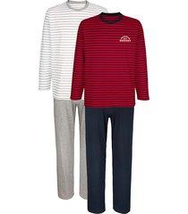 pyjama's g gregory 1x rood/marine, 1x grijs gemêleerd