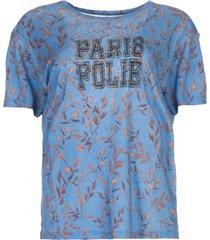 t-shirt met print yawl  blauw