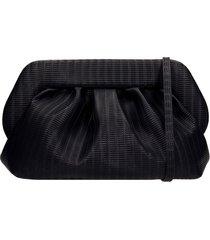 themoirè bios braid shoulder bag in black leather