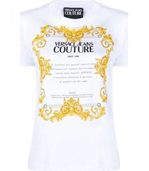 versace jeans couture white baroques t-shirt for women