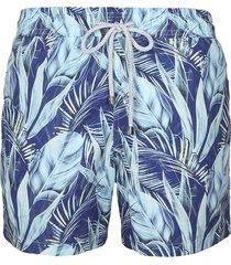 pantaloneta azul steam leaves