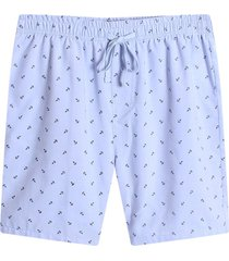 bermuda estapado mini print anclas color azul,talla m