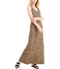 inc animal-print maxi dress, created for macy's