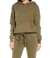 women's project social t fleece hoodie, size x-large - green