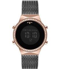 relógio technos fashion digital bj3478ad/5p feminino