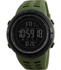 smart watch skmei hombres podómetro cronómetro reloj deportivo impermeable reloj digital