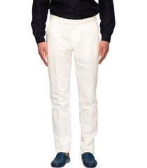 ermenegildo zegna pants ermenegildo zegna chino trousers in linen and cotton