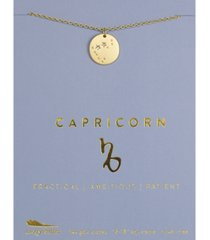 lucky feather zodiac gold-tone charm necklace, capricorn