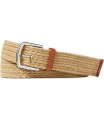 polo ralph lauren men's stretch waxed cotton belt