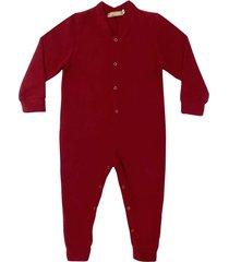 macacão pijama em soft grosso douvelin vermelho