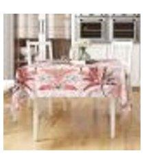 toalha de mesa vermelha estampada vivarti retangular 2,20m x 1,40m tecido jacquard