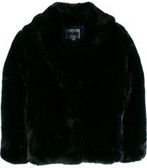 apparis manon short coat - black