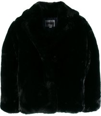 apparis manon short coat - black