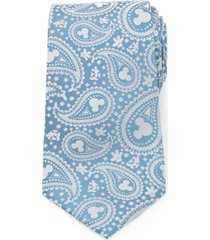 men's cufflinks, inc. mickey mouse paisley silk tie, size regular - blue