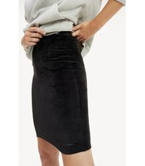 tommy hilfiger women's velour bodycon skirt tommy black - xs