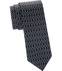 chain-print silk tie