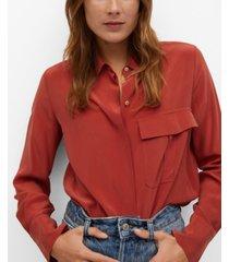 mango women's silk shirt