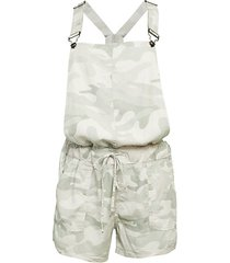 washed tencel camouflage overalls