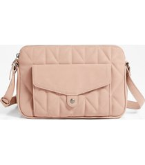 maurices womens blush quilted crossbody bag pink