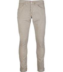 dondup beige slim-leg jeans man