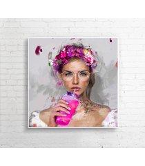 autorski obraz lady smoothies (pink)
