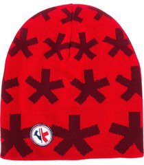 rossignol all over logo beanie - red