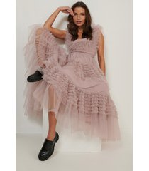 na-kd art tulle dress - pink
