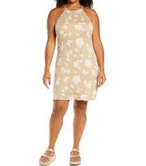 plus size women's bp. sleeveless knit dress, size 4x - beige