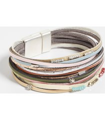 maurices womens multi color thin row magnetic bracelet