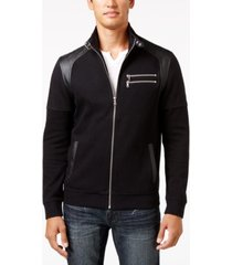 i.n.c. men's fire knit moto jacket, created for macy's