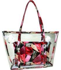 borse da bagno di borsa della borsa di plastica della borsa di tote del pvc delle donne