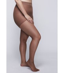 lane bryant women's level 1 high-waist smoothing tights - shimmer sheer g-h cafe mocha