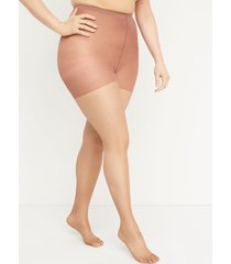 lane bryant women's shimmer sheer smoothing pantyhose g-h cafe mocha