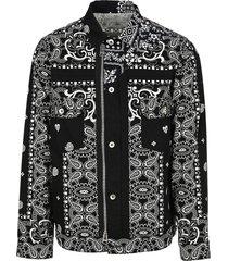 sacai archive print mix jacket