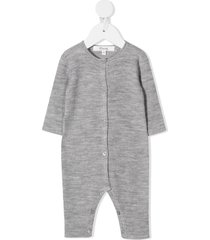 bonpoint ribbed-knit wool romper - grey