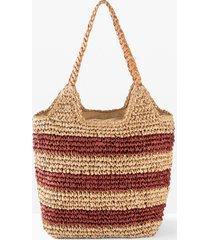 borsa shopper in paglia (rosso) - bpc bonprix collection