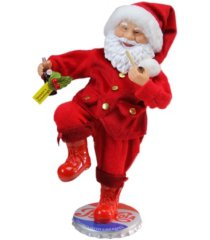northlight santa claus standing on pepsi-cola bottle cap christmas figurine