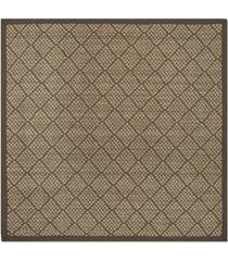 safavieh natural fiber natural and brown 6' x 6' sisal weave square area rug