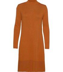 dresses flat knitted korte jurk bruin esprit collection