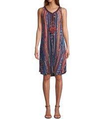 jpr striped tassel midi dress