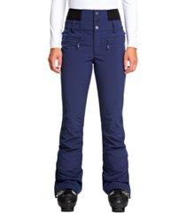 roxy juniors' rising high fleece-lined ski pants